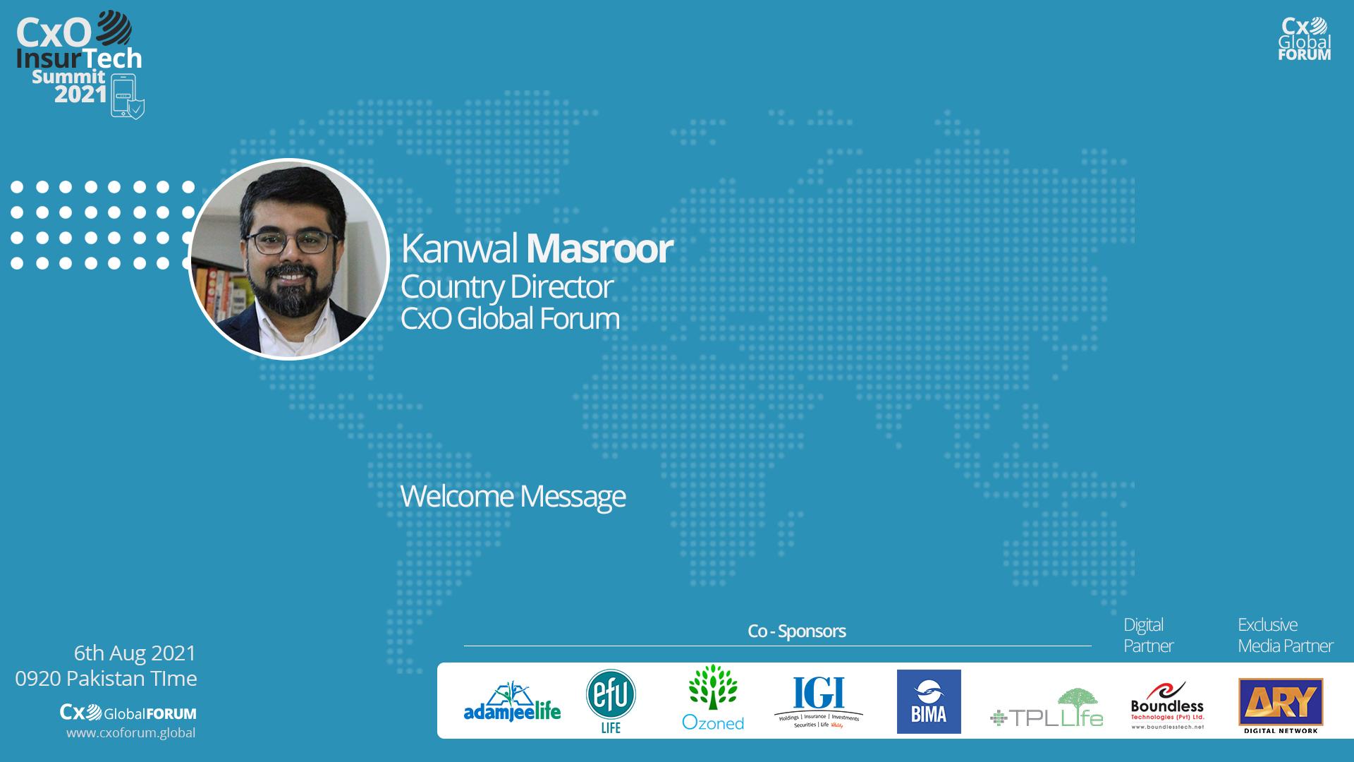 Welcome Note by Kanwal Masroor